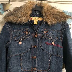 Med Apple Bottoms Jean jacket with removable fur